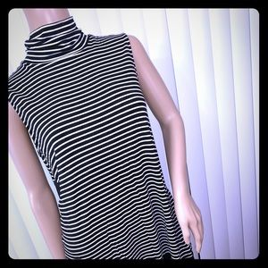 Vince Camuto Mock Turtleneck Tunic Sheer back